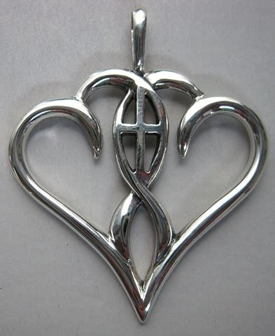 Christian Two one in the spirit pendant two hearts joined together by