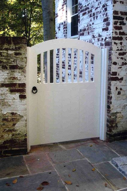 white wooden gate white wood garden gate traditional landscape dc