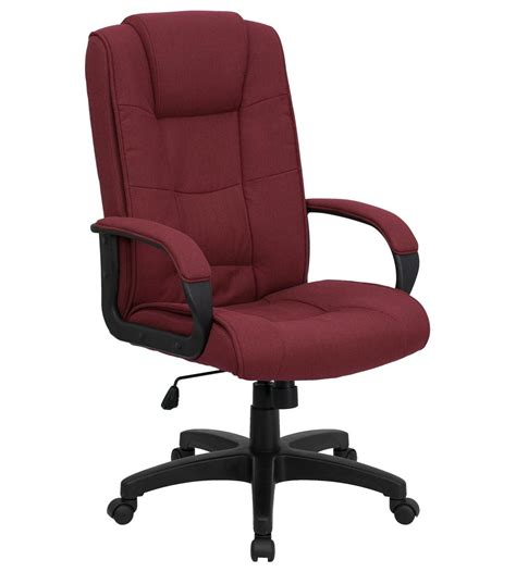 Office Chair Fabric Upholstery Comfortable High Back Executive Fabric Office Chair