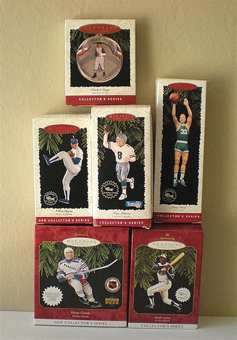 hallmark collectible ornaments value 6 vintage hallmark sports ornaments mint in boxes from
