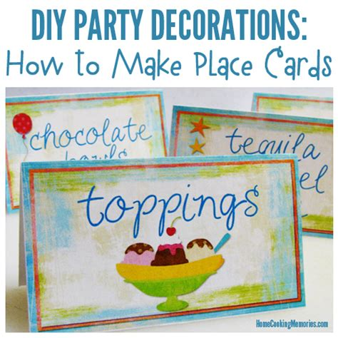 how to make table cards diy decorations place cards table cards home