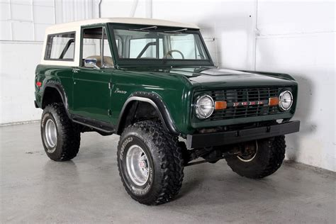 green paint sles mallard green 1975 ford bronco for sale mcg marketplace