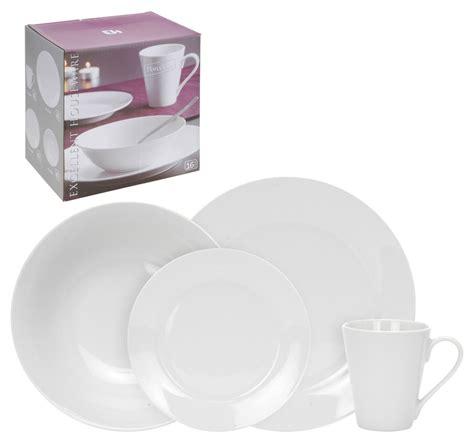 Serve And Dine Set 16 white porcelain dinner serving dinnerware dining