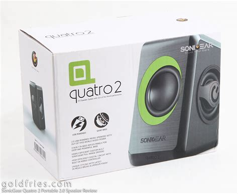 Speaker Quatro 2 sonicgear quatro 2 portable 2 0 speaker review goldfries