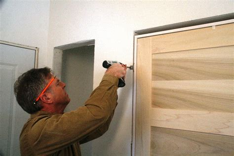 How To Install A New Interior Door by How To Install A Door Frame Door Happho