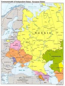 Europe Russia Map by Russia And The Former Soviet Republics Maps Perry