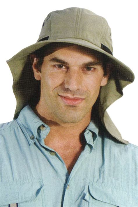 mens flap hat sun protection outdoor brimmed hat for