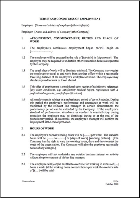 templates for employment contracts employment contract template peerpex