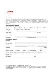 Hotel Credit Card Authorization Form Template by Free Marriott Credit Card Authorization Form Pdf
