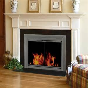 pleasant hearth craton cabinet fireplace screen and smoked