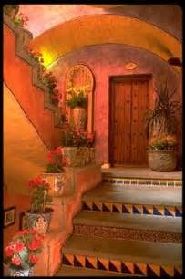 mexican exterior stairway color texture decorative
