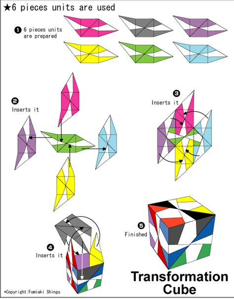 printable origami transforming cubes origami transformation cube instruction easy origami