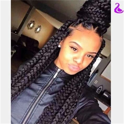 big braids in dark colours for blackwoman hotsalenatural black straight braided synthetic lace front