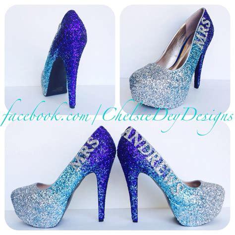 sparkley high heels aqua glitter high heels silver turquoise blue royal purple