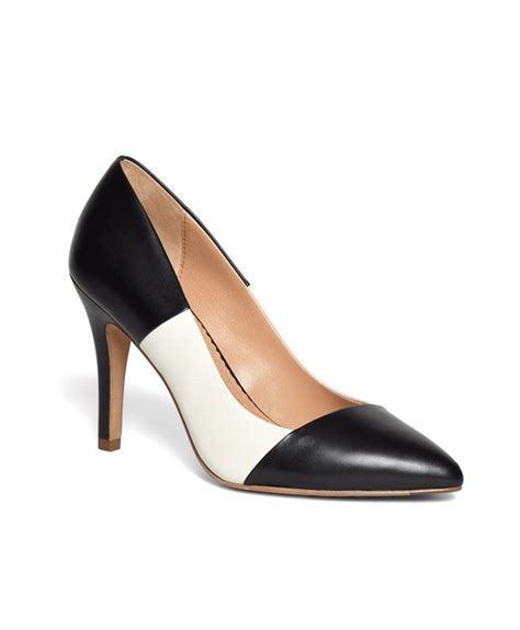 Two Tone Pumps s black and white two tone leather pumps