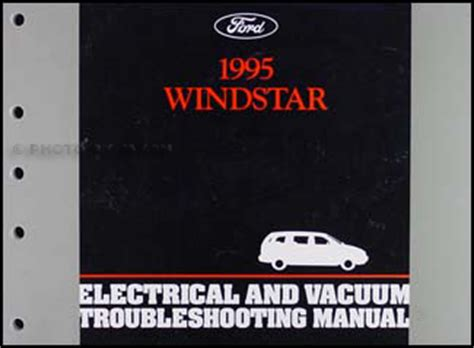 electric and cars manual 1995 ford f series navigation system 1995 ford windstar electrical vacuum troubleshooting manual original