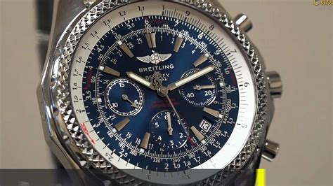 bentley breitling breitling bentley motors chronograph in steel ref no