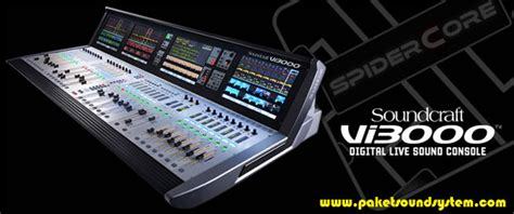 Mixer Audio Terbaru mixer audio digital soundcraft vi3000 paket sound system