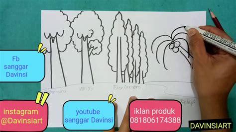 cara membuat warna coklat pohon how to draw and colouring tree cara menggambar dan