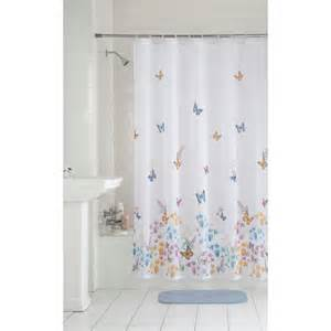 mainstays butterfly fabric shower curtain walmart