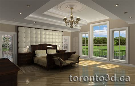 360 Room 3d archiitectural rendering interior contemporary bedroom