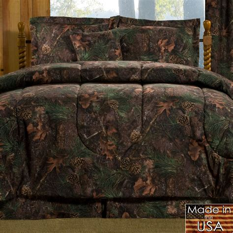 camouflage comforter set mixed pine rustic camo mini comforter set bedding