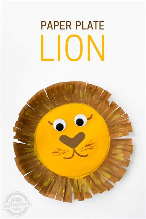 How To Make Paper Plate Crafts - paper plate craft lions and craft