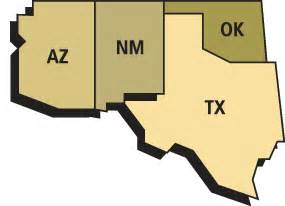 southwest region of the united states map southwest agriculture and careers in sothwest