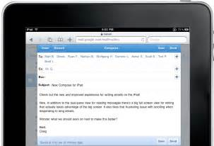 Today ipad users will see a new compose window pictured right when