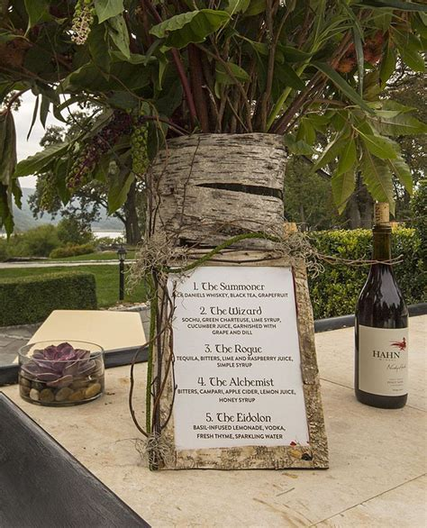 Dungeons & Dragons themed #wedding drinks menu at the #bar