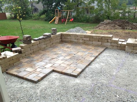 diy patio with pavers diy backyard paver patio outdoor oasis tutorial the