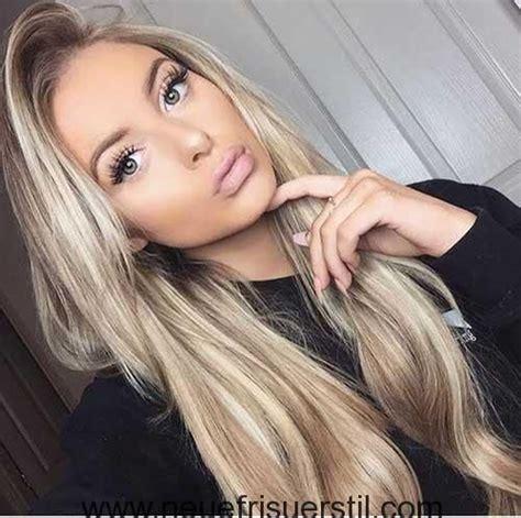 blond und schoen lange frisuren fuer frauen schoen blond