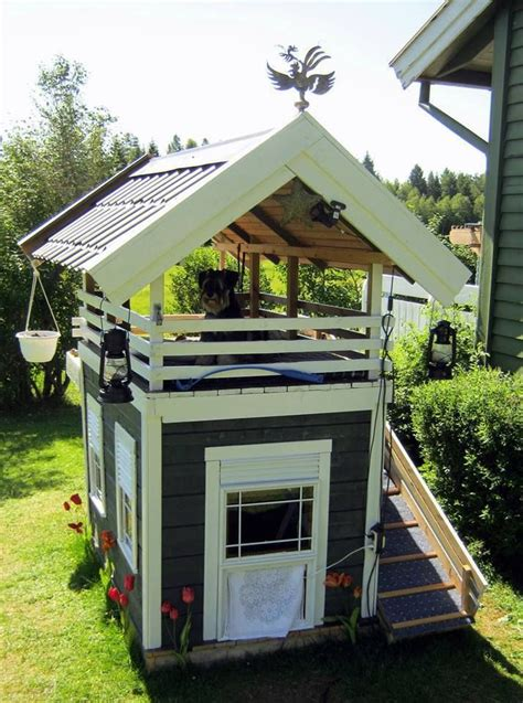 Two Story Dog House Lucky Dog Creative Ideas Pinterest The Roof House And Search