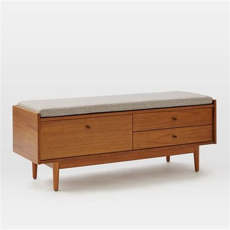 west elm x bench mid century entryway bench west elm
