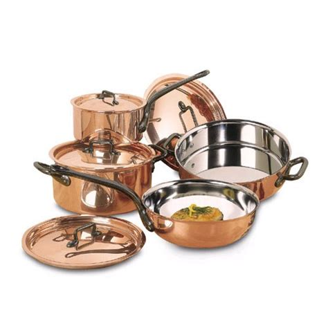 Top Of The Line Kitchen Knives by Bourgeat 8 Piece Copper Cookware Set Matfer Bourgeat