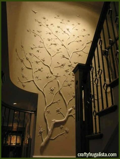 diy wall decor real tree branches on the wall the