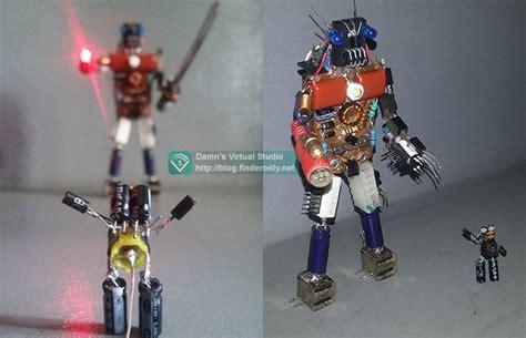membuat robot elektronik membuat hiasan robot jt dari sah elektronik bekas