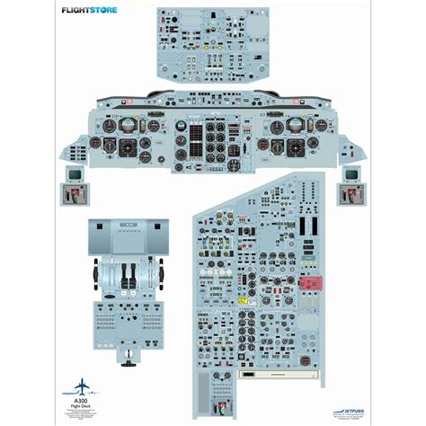 a320 cockpit layout poster download airbus a300 airliner cockpit poster