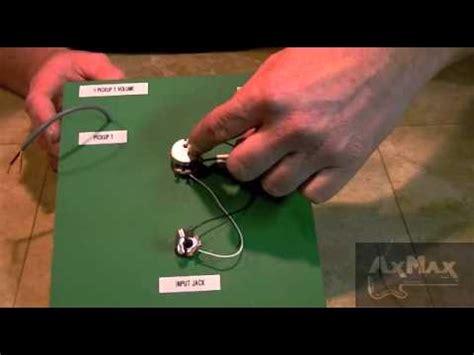 wiring electric guitar  pickup  volume  input jack