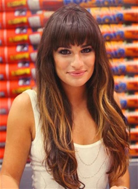 which hair colour does lea michele wear for loreal lea michele with long ombre hair gorgeous
