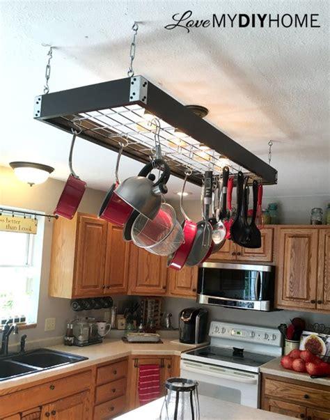 kitchen rack design industrial pot rack creative quot pan handling quot hometalk