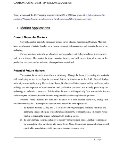 research paper on nanoparticles nanotechnology carbon nanotubes cnts research paper