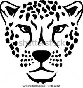 leopard head clipart black and white clipartsgram com