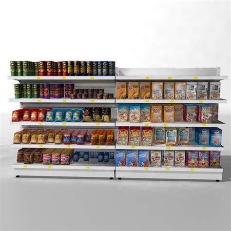 Shelf Supermarket by 3d Model Supermarket Shelves