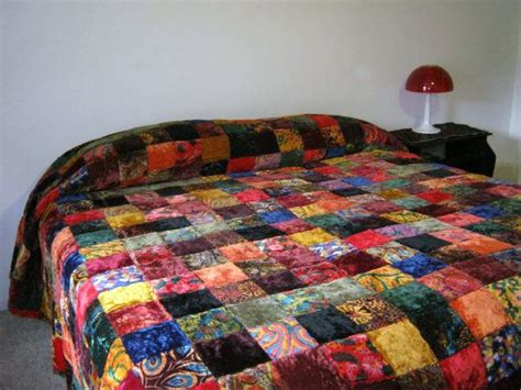 Velvet Patchwork Quilt King - 1000 ideas about bohemian quilt on bohemian