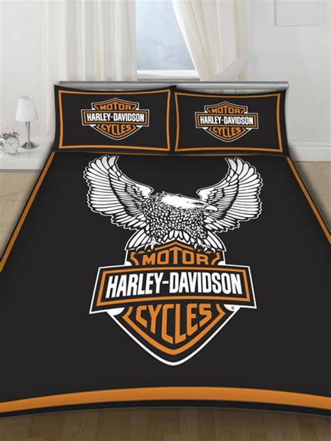 harley davidson bedding harley davidson double duvet cover and pillowcase bedding