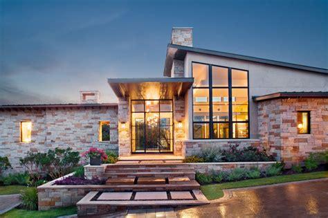 spanish oaks custom contemporary contemporary exterior austin  shoberg custom homes