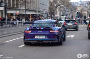 Porsche 911 Gt3 Rs Blue Ultraviolet Blue Porsche 911 Gt3 Rs In Martini Livery