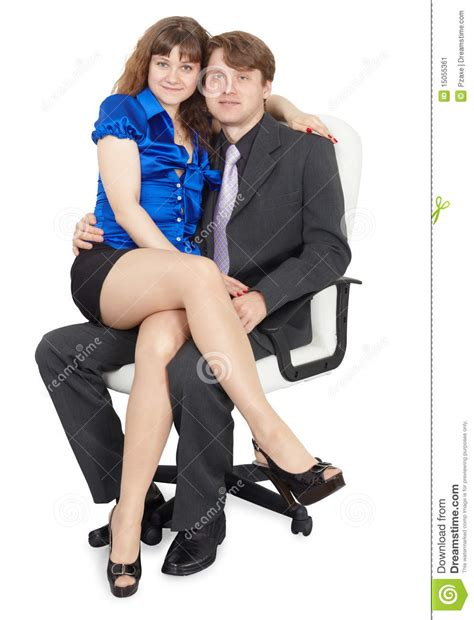 Couples Chair by Sitting On Office Chair Stock Image Image