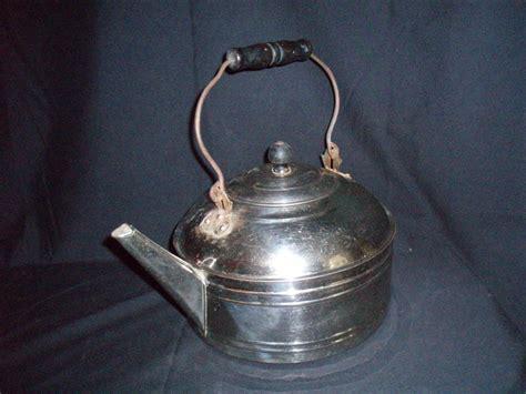 nickel plated copper nickel plated copper tea kettle rome co antique